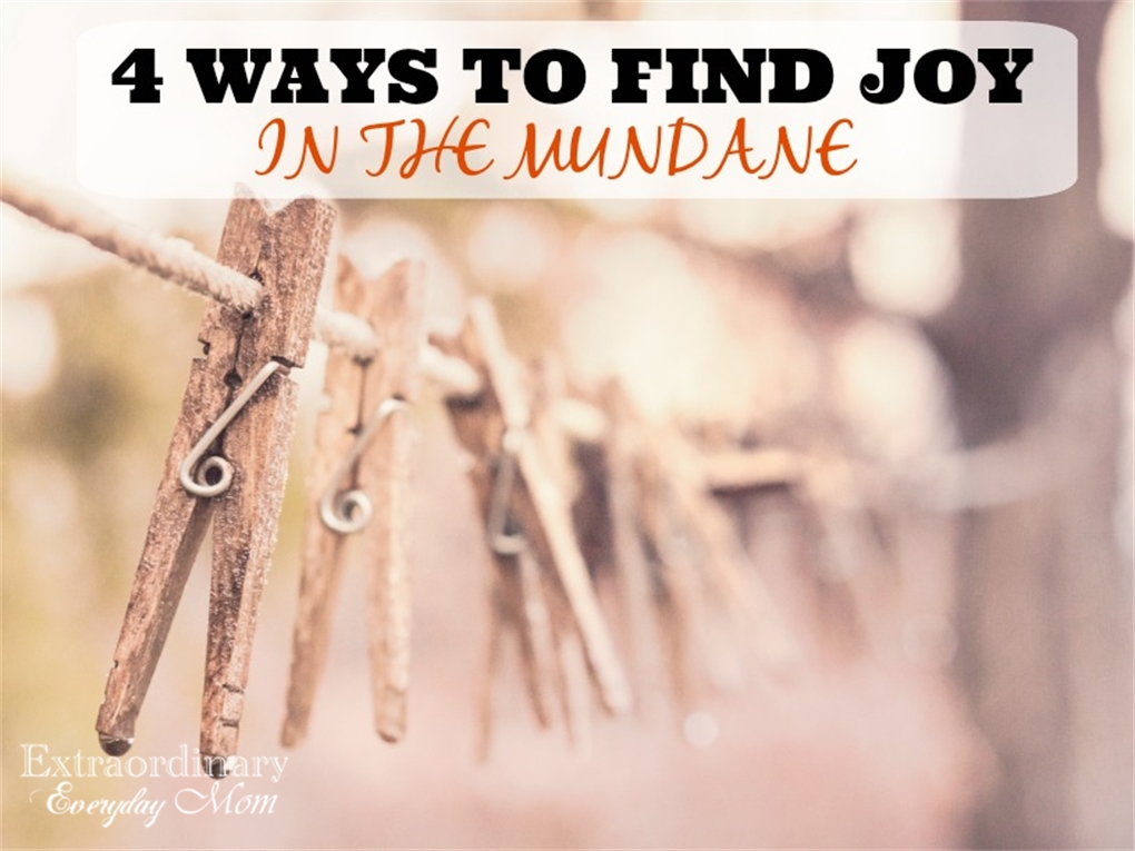 4 Ways to Find Joy in the Mundane