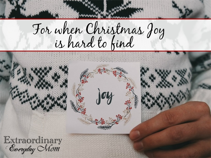 For when Christmas Joy is hard to find