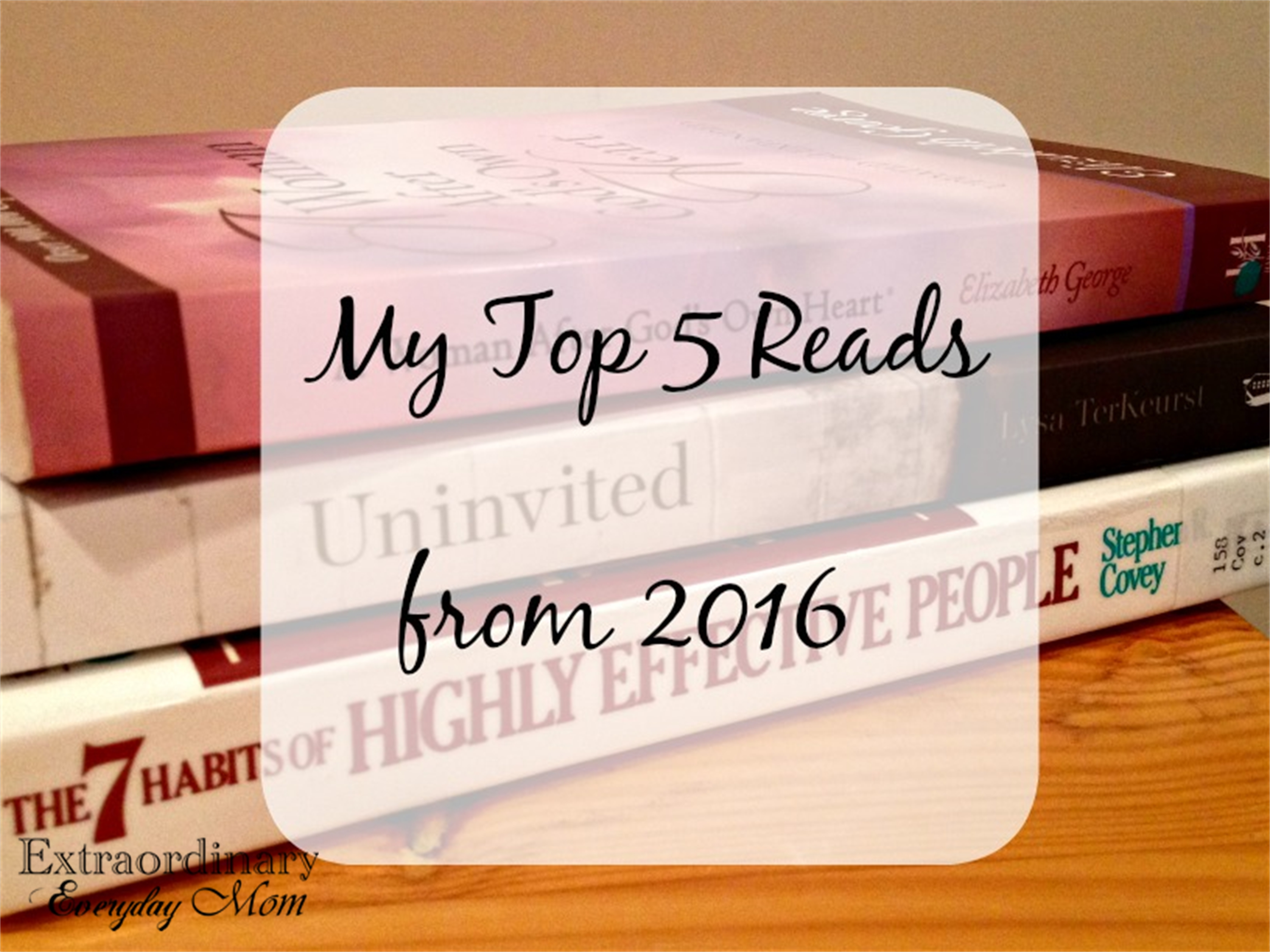 My Top 5 Reads from 2016