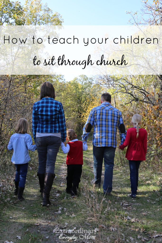 How to teach your children to sit through church.