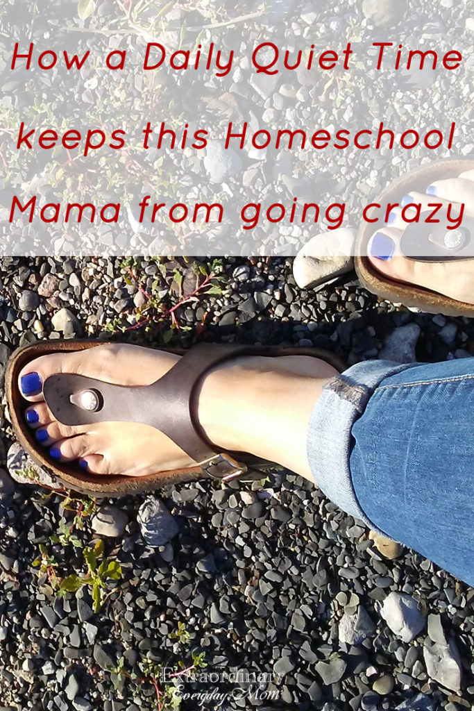 How a Daily Quiet Time keeps this Homeschool Mama from going crazy